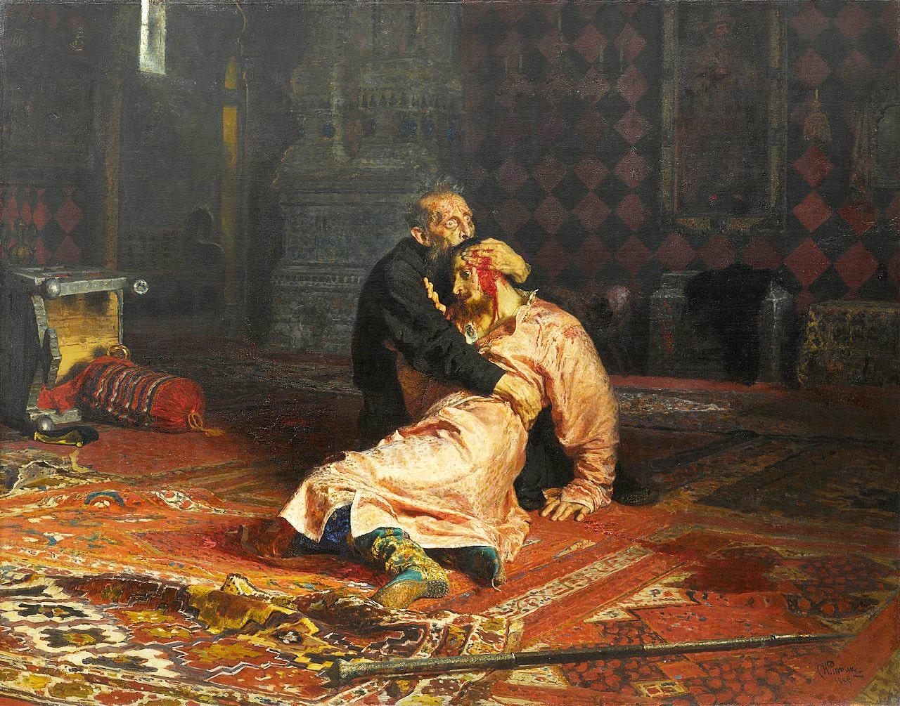 Ivan-Groznyiy-i-syin-ego-Ivan-16-noyabrya-1581-goda-1885
