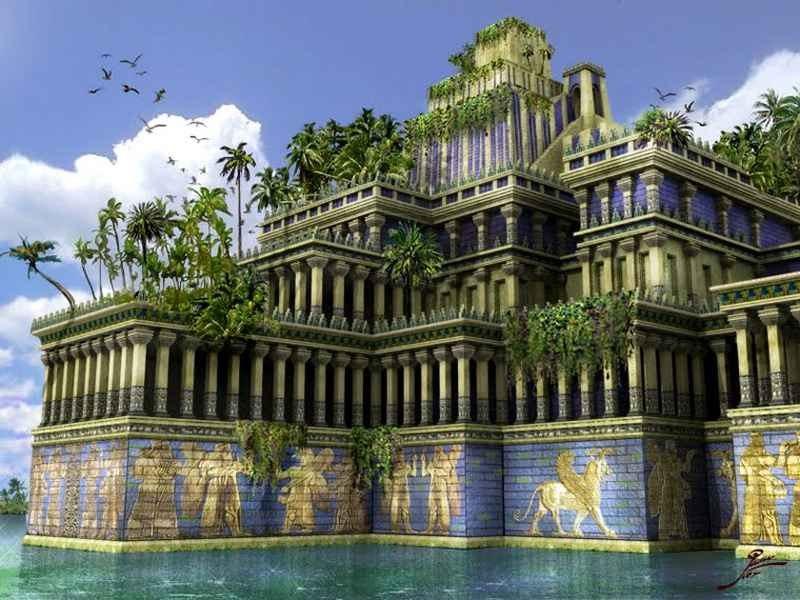 Семь чудес света Висячие сады Семирамиды (4)