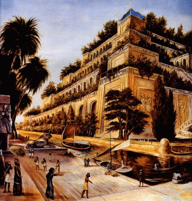 Семь чудес света Висячие сады Семирамиды (5)
