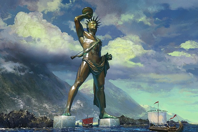 Семь чудес света Колосс Родосский (4)