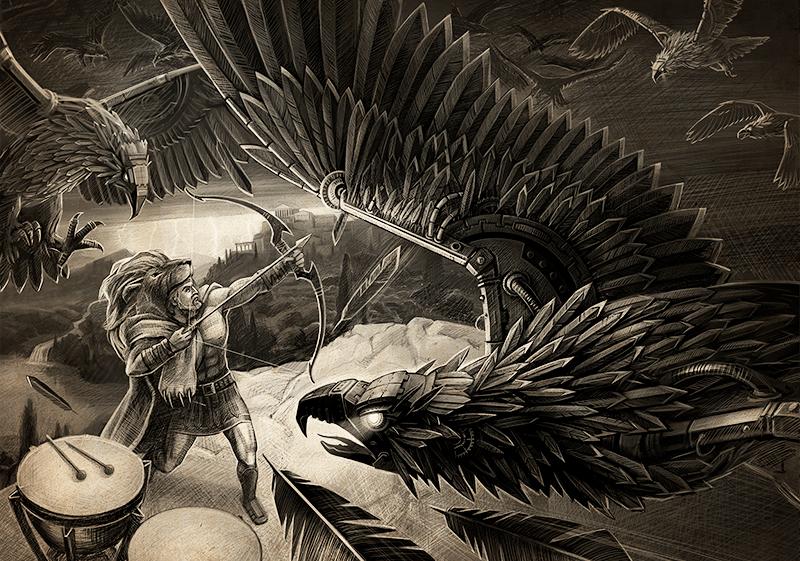 Подвиги геракла картинки стимфалийские птицы