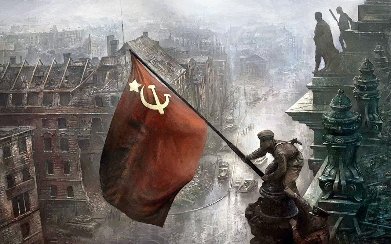 30-aprelya-v-22-chasa-nad-Reyhstagom-byilo-vodruzheno-Znamya-Pobedyi