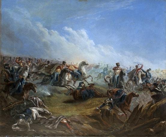 Ataka_leyb-gvardii_gusar_pod_Varshavoy_26_avgusta_1831_goda-Risunki-Lermontova