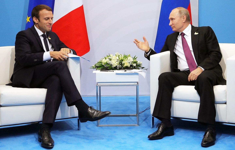 E`mmanue`l-Makron-i-Vladimir-Putin