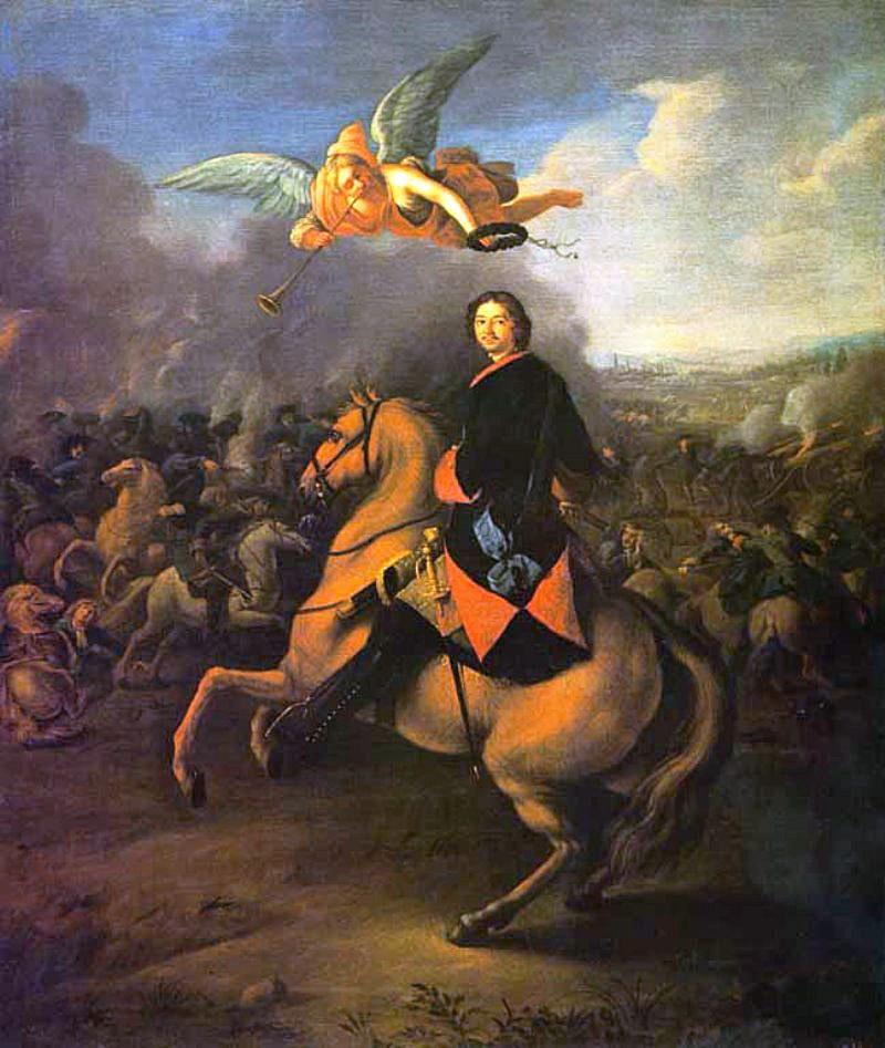 Foto-Petra-1-1724-g-Petr-I-v-Poltavskoy-bitve