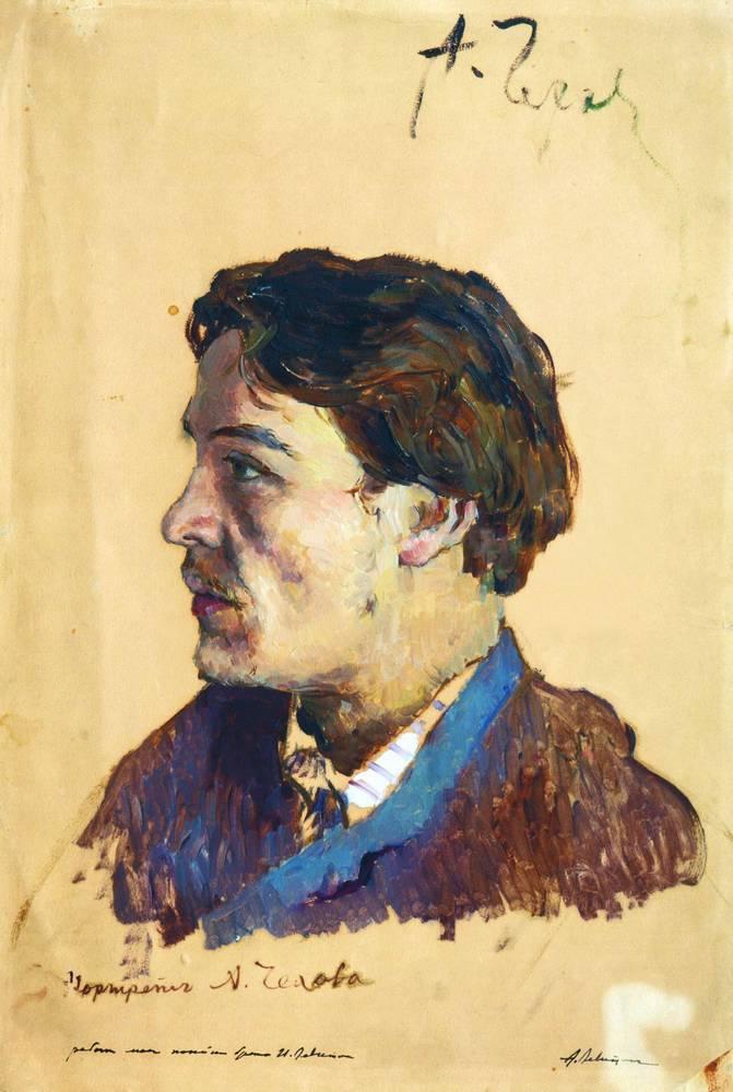 Портрет Чехова, написанный Левитаном
