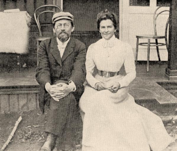 Чехов с женой Ольгой Книппер