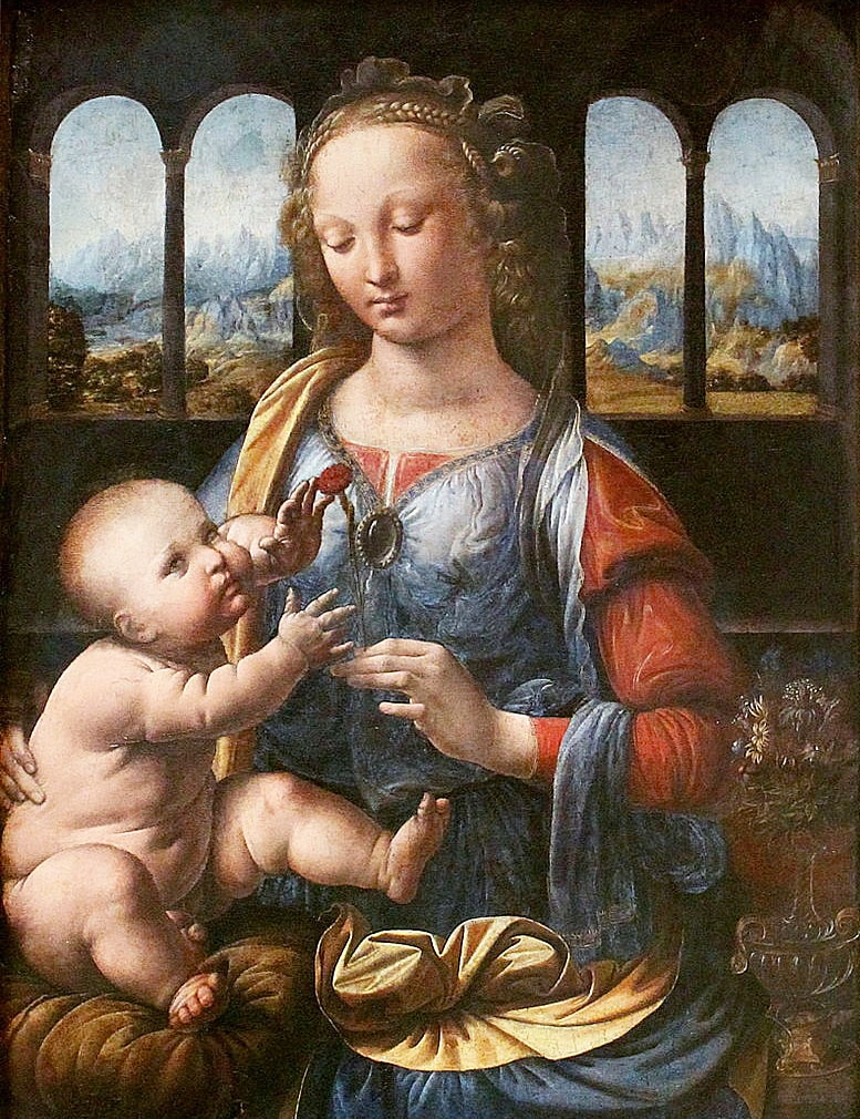 Kartinyi-Leonardo-da-Vinchi---Madonna-s-gvozdikoy