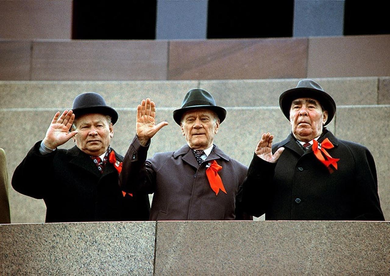 Leonid-Brezhnev-Konstantin-CHernenko-Nikolay-Tihonov