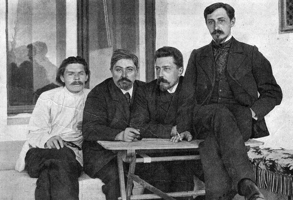 M.-Gorkij-D.-N.-Mamin-Sibiryak-N.-D.-Teleshov-i-I.-A.-Bunin.-YAlta-1902
