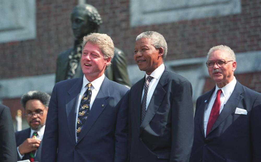 Mandela-i-Prezident-SSHA-Bill-Klinton-v-1993-godu