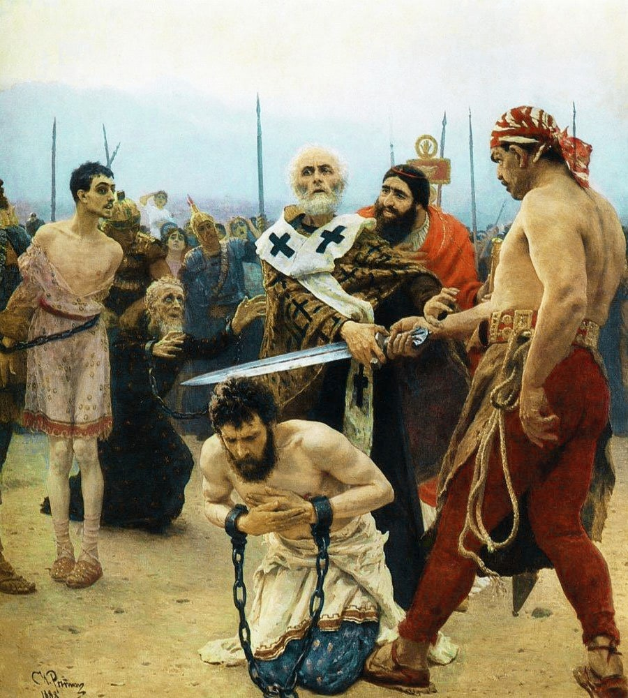 Nikolay-Mirlikiyskiy-izbavlyaet-ot-smerti-tryoh-nevinno-osuzhdyonnyih.-1888