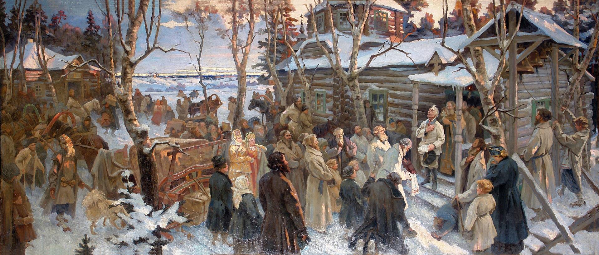 Ot'ezd-A.-V.-Suvorova-iz-sela-Konchanskogo-v-pohod-1799-g