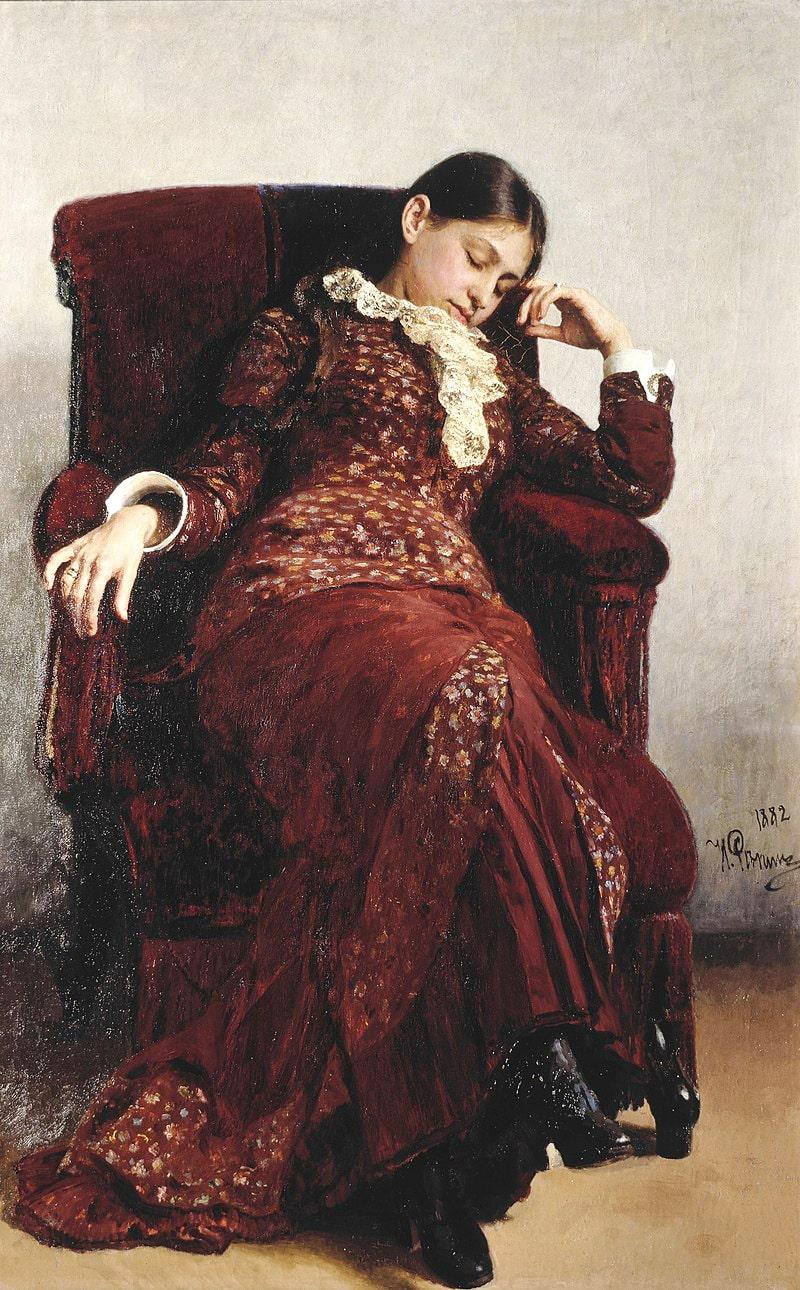 Otdyih.-Portret-V.-A.-Repinoy-zhenyi-hudozhnika.-1882