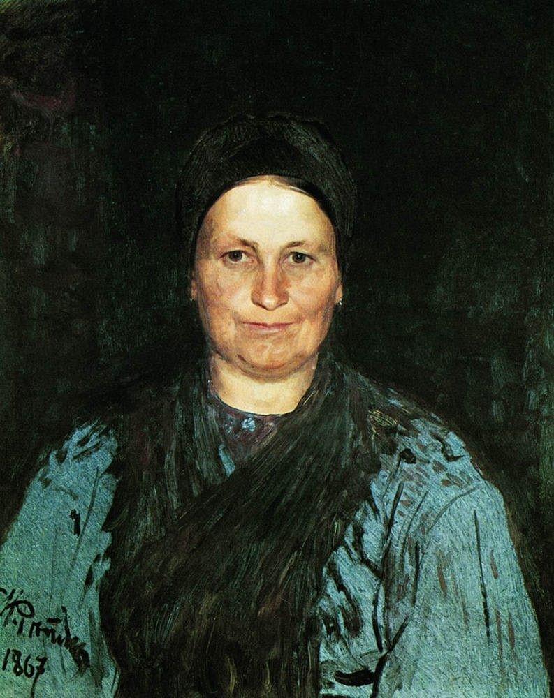 Portret-Tatyanyi-Stepanovnyi-Repinoy.-1867