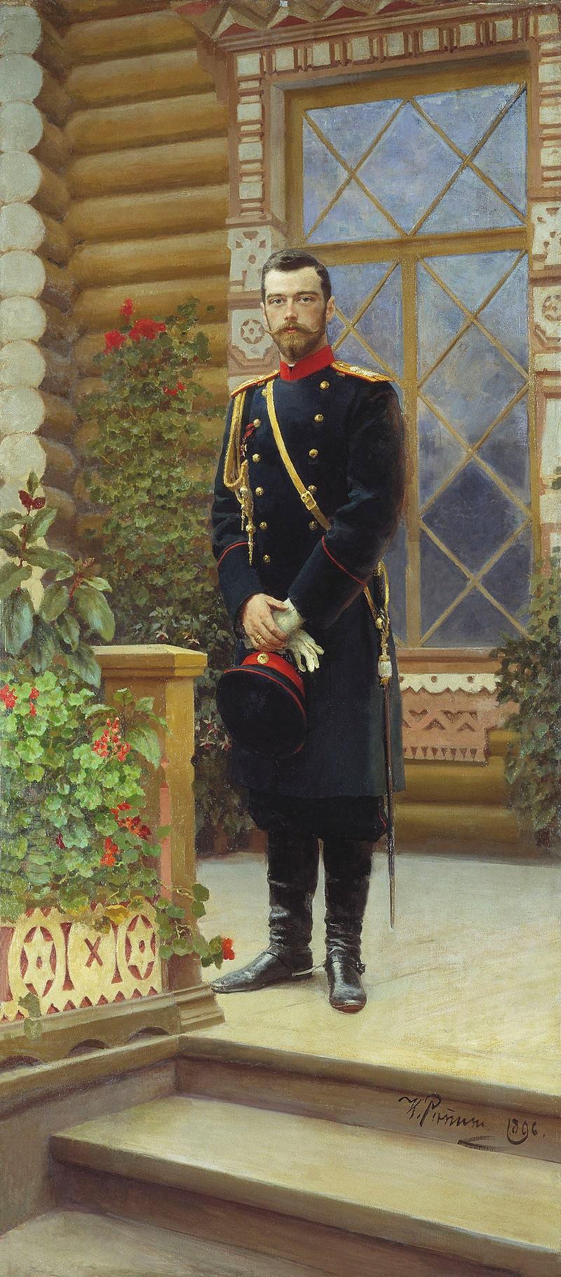 Portret-imperatora-Nikolaya-II-na-kryiltse.-1896
