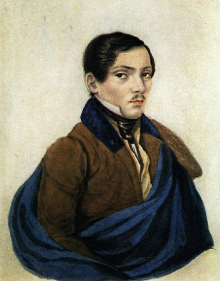 Portret-neizvestnogo-Risunki-Lermontova