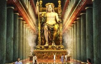 Семь чудес света 4 — Статуя Зевса в Олимпии