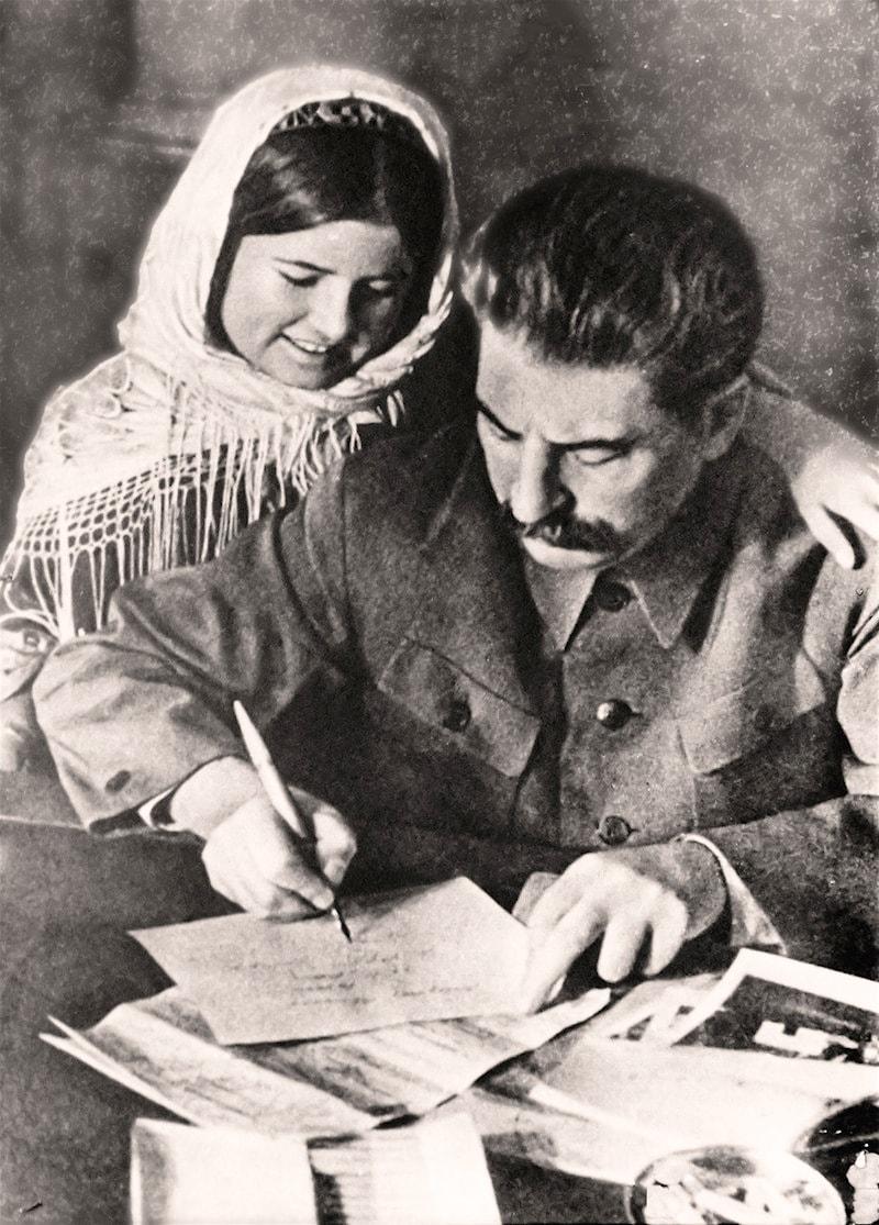 Stalin-i-tadzhikskaya-devochka