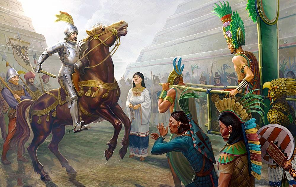 Vstrecha-E`rnando-Kortesa-i-Montesumyi-Vtorogo
