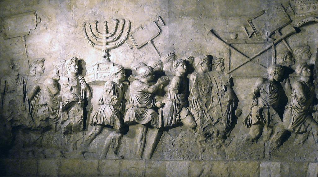 fragment-arki-tita-v-rime-rimskie-voiny-grabyat-ierusalimskij-hram