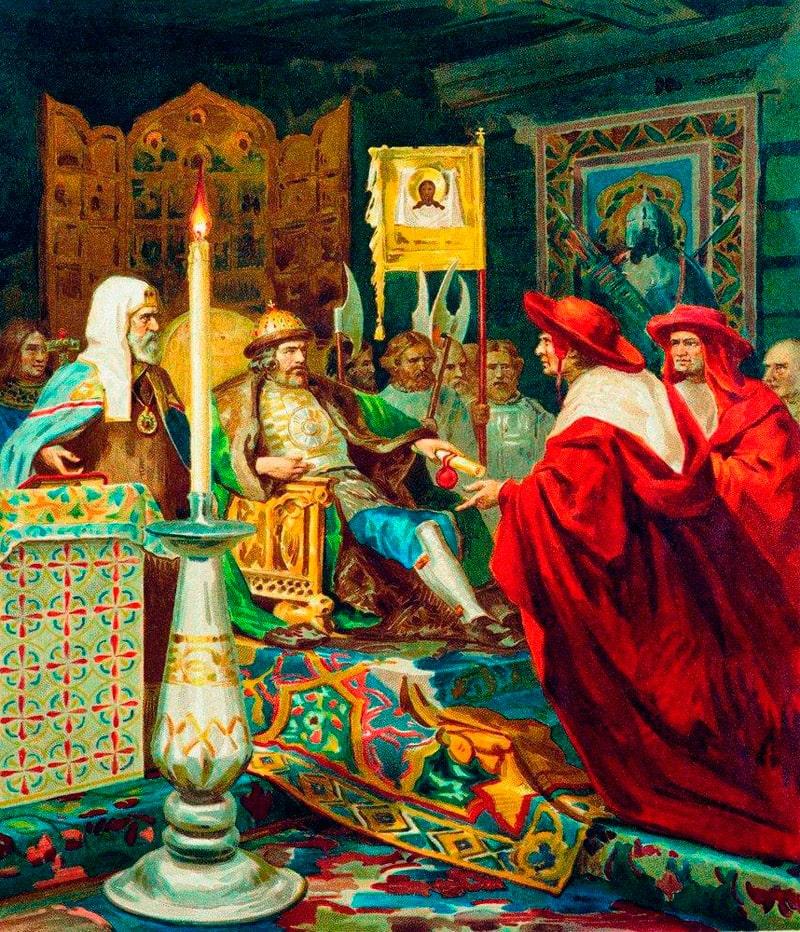 genrih-semiradskij-knyaz-aleksandr-nevskij-prinimaet-papskih-legatov-1