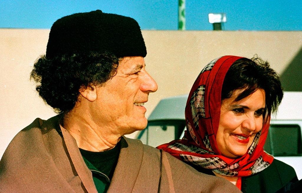 muammar-kaddafi-i-ego-zhena-safiya-farkash