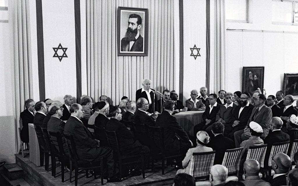 podpisanie-deklaraczii-nezavisimosti-izrailya