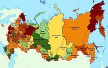 Самые большие регионы России