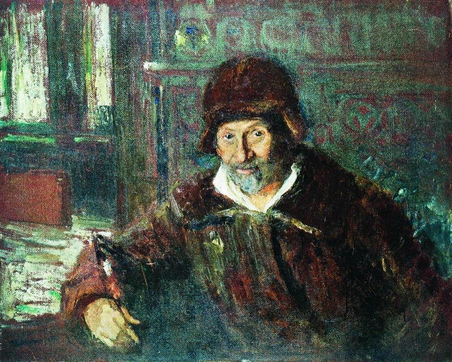 Avtoportret-Linoleum-maslo.-1920.-Muzey-usadba-Penatyi