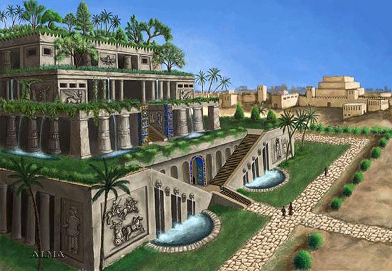 Семь чудес света Висячие сады Семирамиды (3)