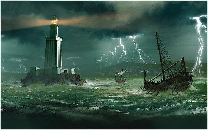 Семь чудес света Александрийский маяк (2)