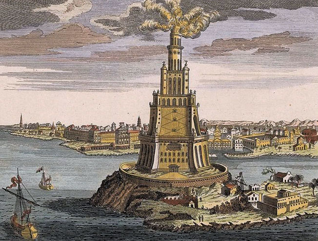 Семь чудес света Александрийский маяк (4)