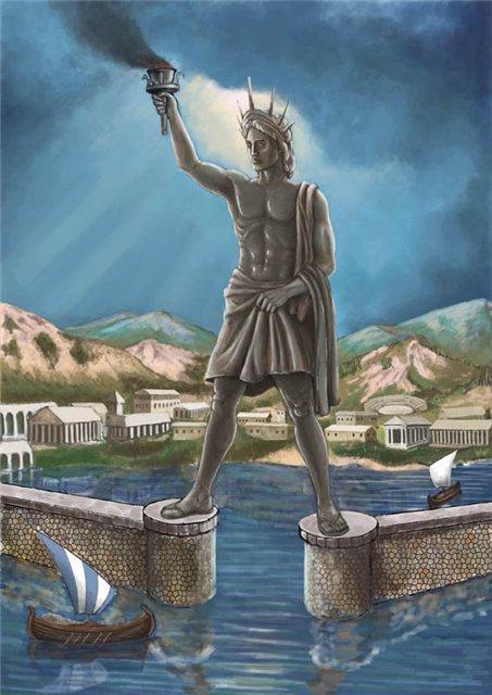 Семь чудес света Колосс Родосский (1)