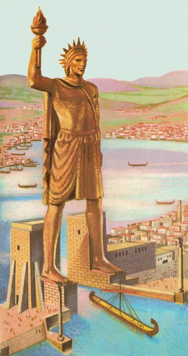 Семь чудес света Колосс Родосский (3)