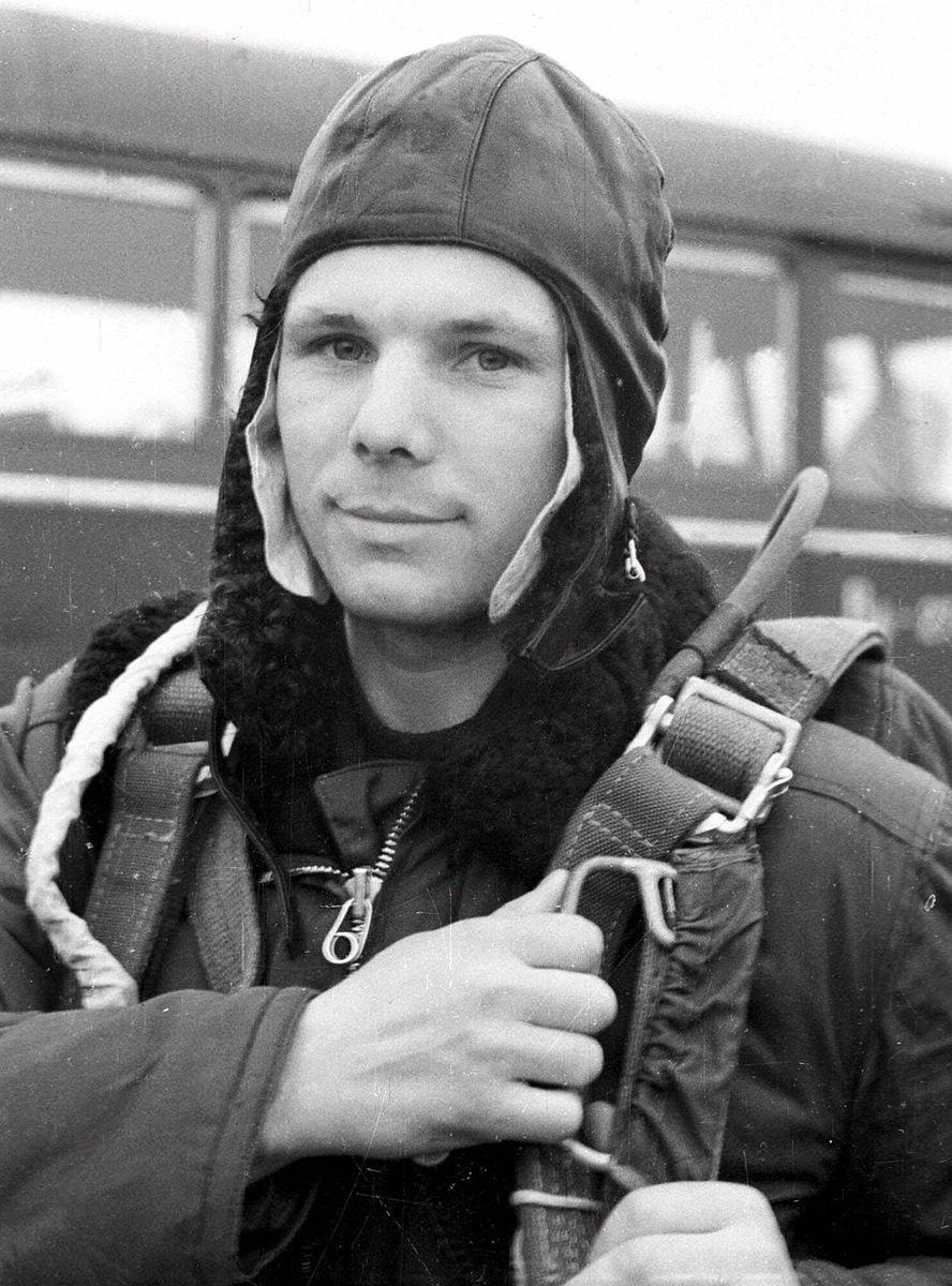 Foto-YUriy-Gagarin-vo-vremya-trenirovki-v-aprele-1961-goda