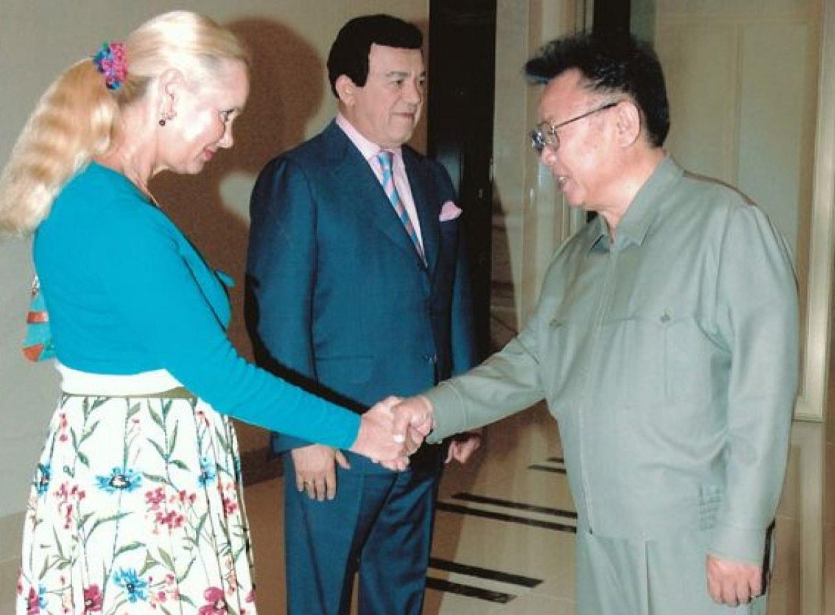 Iosif-Davyidovich-s-suprugoy-i-glavoy-KNDR-Kim-CHen-Irom