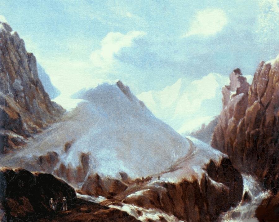 Krestovyiy-pereval-1837-godyi-Risunki-Lermontova