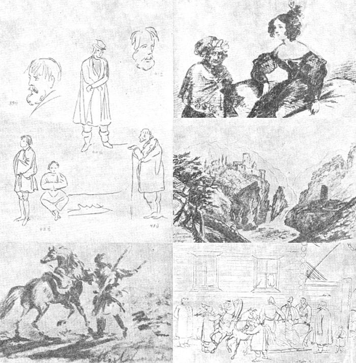 Nabroski-karandashom-2-Risunki-Lermontova