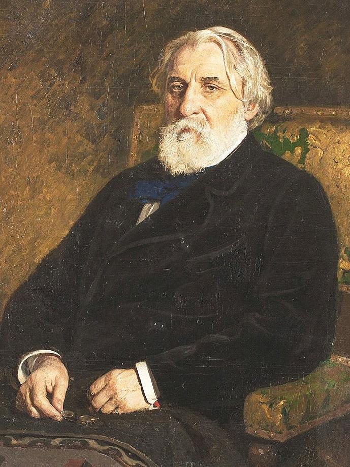 Portret-Turgeneva-v-ispolnenii-Repina