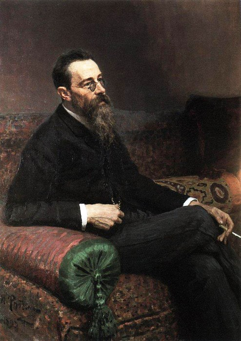 Portret-kompozitora-N.-A.-Rimskogo-Korsakova.-1893