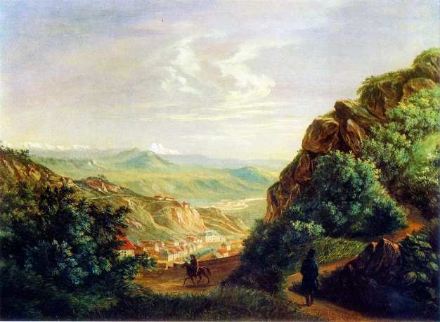 Pyatigorsk.-maslo-1837-Risunki-Lermontova