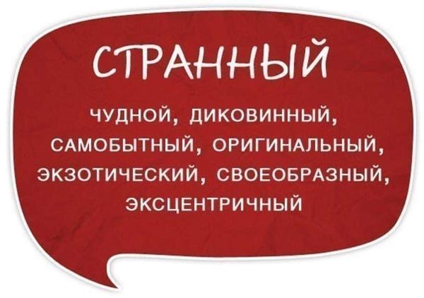 Razgovornyie-slova-sinonimyi-Strannyiy