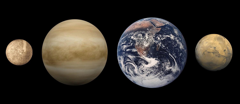 Sravnitelnyie-razmeryi-sleva-napravo-Merkuriya-Veneryi-Zemli-i-Marsa