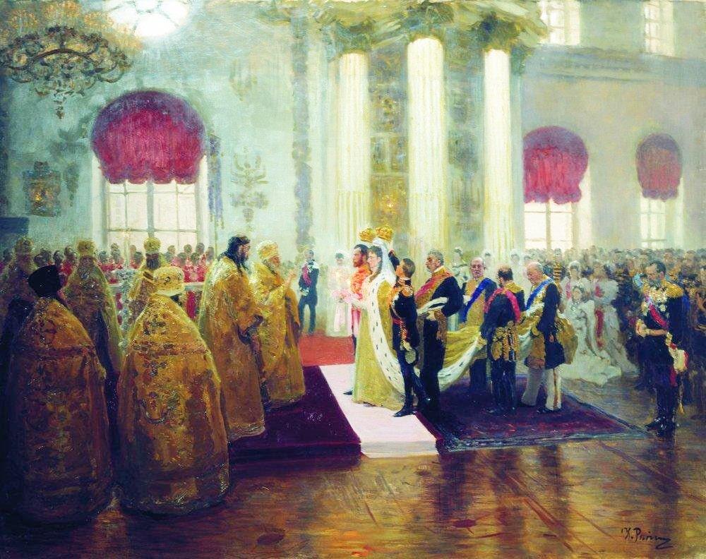 Venchanie-Nikolaya-II-i-velikoy-knyazhnyi-Aleksandryi-Fedorovnyi.-1894