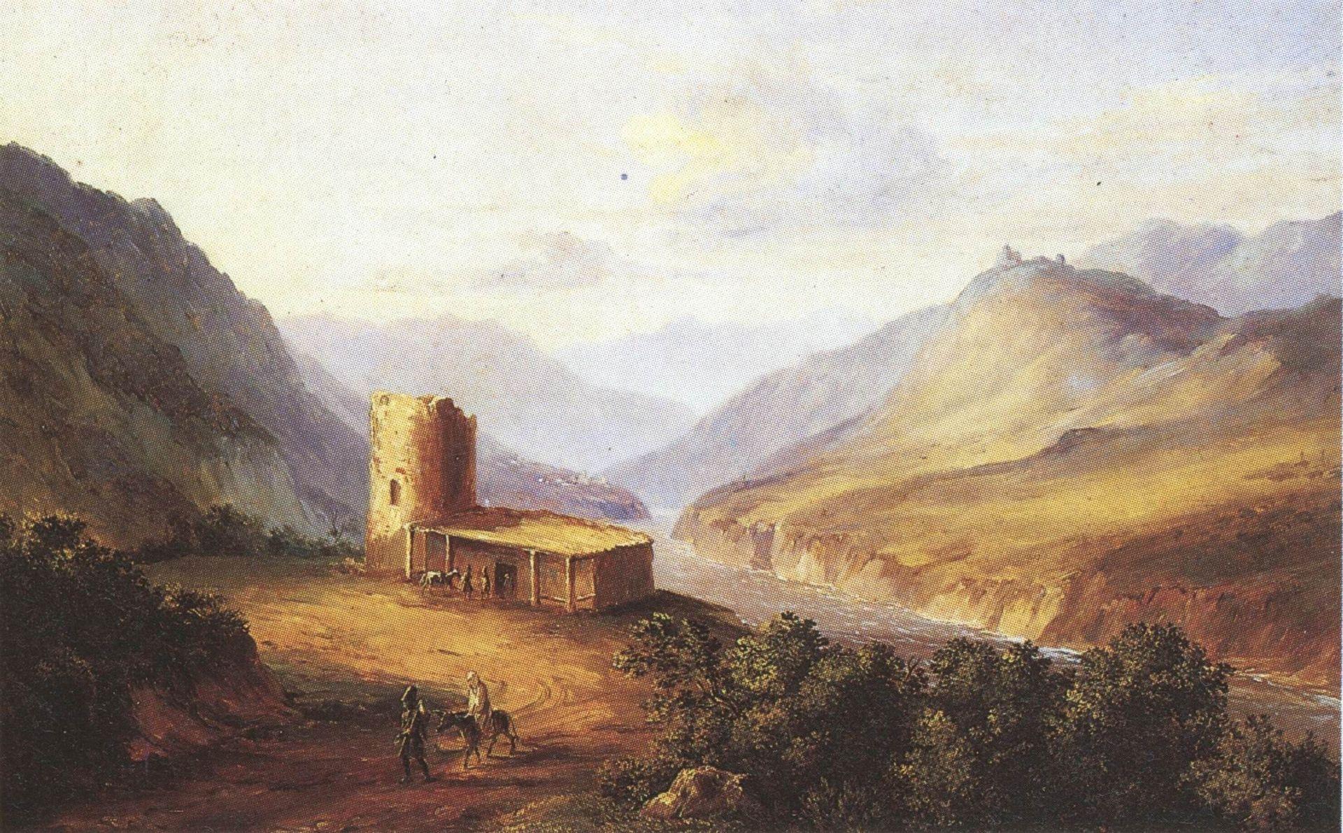 Voenno-Gruzinskaya-doroga-bliz-Mtshetyi-Kavkazskiy-vid-s-sakley