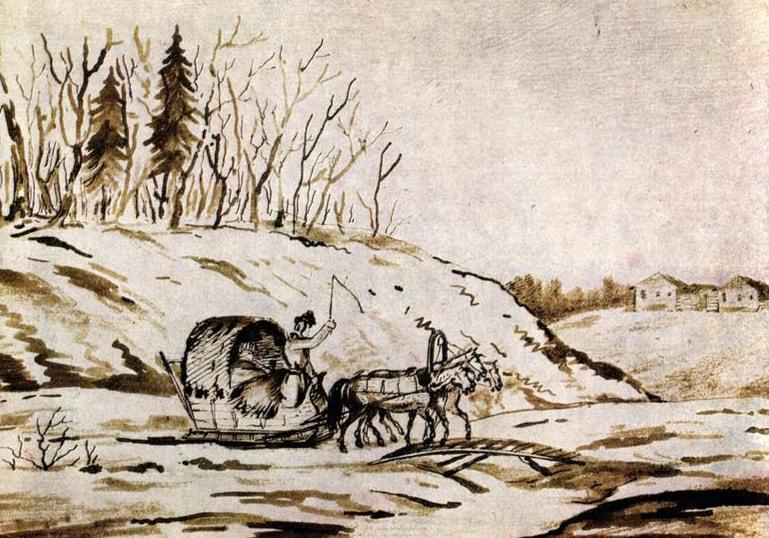 Zimniy-vozok-Risunki-Lermontova